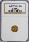 Commemorative Gold, 1917 G$1 McKinley MS61 Prooflike NGC....