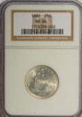 Seated Quarters, 1882 25C MS64 NGC....