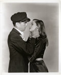 """Movie Posters:Romance, Humphrey Bogart and Lauren Bacall in """"To Have and Have Not"""" by Bert Longworth (Warner Brothers, 1944). Still (8"""" X 10"""").. ..."""