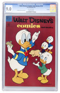 Golden Age (1938-1955):Cartoon Character, Walt Disney's Comics and Stories #174 File Copy (Dell, 1955) CGCVF/NM 9.0 Off-white pages....