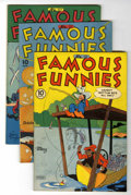 Golden Age (1938-1955):Miscellaneous, Famous Funnies Group - Diamond Run pedigree (Eastern Color, 1945-48) Condition: Average VG.... (Total: 13 Comic Books)