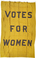 """Political:Miscellaneous Political, Woman's Suffrage: Spectacular """"Votes for Women"""" Headquarters Hanging...."""