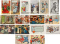 Political:Small Paper (1896-present), Woman's Suffrage: Sixteen Different English Suffrage Cards.... (Total: 16 Items)