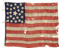 Military & Patriotic:Pre-Civil War, Rare 1850-1865 Period 25 Star U.S. Flag with Detailed Analysis from Noted Flag Authority Fonda Thomsen. ...