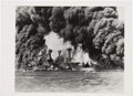 Photography:Official Photos, [Pearl Harbor] Photograph of the Battleships USS Tennessee(BB-43) and USS West Virginia (BB-48) on De...