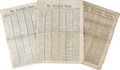 Books:Periodicals, [Abraham Lincoln Assassination] Lot of Three Newspapers Including New York Times, April 15, 1865. The fu... (Total: 3 Items)