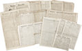 Books:Periodicals, [Abraham Lincoln Assassination] Group Lot of Twelve Newspapers WithAccounts of the Assassination. . Boston Morning Jour... (Total:12 Items)