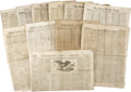 Books:Periodicals, [Abraham Lincoln Assassination] Twelve Newspapers With ContentRegarding the Lincoln Assassination. Includes:. Cincinnat...(Total: 12 Items)