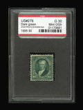 Stamps, #278, 1895, $5 Dark Green, G 30 PSE. (Original Gum - Hinged).... (Total: 1 Slab)