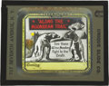"""Movie Posters:Science Fiction, Along the Moonbeam Trail (B.V.S. Films, 1920). Glass Slide (4"""" X3.5"""").. ..."""