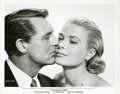 "Movie Posters:Hitchcock, Cary Grant and Grace Kelly in ""To Catch a Thief"" Still (Paramount,1955). Still (8"" X 10"").. ..."