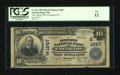 National Bank Notes:Kentucky, Covington, KY - $10 1902 Plain Back Fr. 632 The Liberty NB Ch. #(S)1847. ...