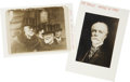 "Photography:Cabinet Photos, Whitelaw Reid, Two Photographic Images. One, with Reid standingnext to Andrew Carnegie, is 7"" x 5"". The other image, 3.75"" ...(Total: 2 Items)"