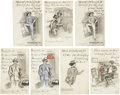 Political:Small Paper (1896-present), Woman's Suffrage: Seven Cards From the Suffragist Series....(Total: 7 Items)