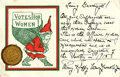 Political:Small Paper (1896-present), Woman's Suffrage: Suffrage Santa Claus Christmas Card with Message....