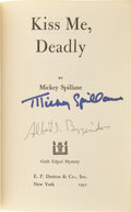 Books:Signed Editions, Mickey Spillane. Kiss Me, Deadly. New York, 1952. Firstedition. Signed by the author; also signed by A.I. Bez...