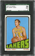 Basketball Cards:Singles (1970-1979), 1972 Topps Jerry West #75 SGC 96 Mint 9....