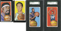 Basketball Cards:Lots, 1970-71 Topps Basketball Hall of Fame Collection (4)....