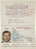 Explorers:Space Exploration, John Young's Official United States Passport, March 12, 1986 -March 11, 1991, Directly from his Personal Collection, Signed....