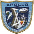 Explorers:Space Exploration, Apollo 10 Flown Embroidered Mission Insignia Patch Directly fromthe Personal Collection of Mission Command Module Pilot John ...