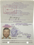 Explorers:Space Exploration, John Young's Personal United States Passport, February 12, 1991 -February 11, 2001, Directly from his Personal Collection, Si...