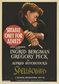 "Movie Posters:Hitchcock, Spellbound (United Artists, 1945). Australian One Sheet (28"" X40"").. ..."