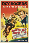 """Movie Posters:Western, Heart of the Golden West (Republic, 1942). One Sheet (27"""" X 41"""").. ..."""