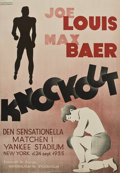 "Movie Posters:Sports, Knockout (National Film Stockholm, 1936). Swedish One Sheet (27"" X 39"").. ..."