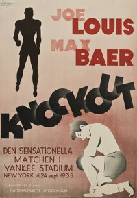 "Knockout (National Film Stockholm, 1936). Swedish One Sheet (27"" X 39"")"