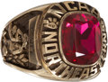 Basketball Collectibles:Others, 1986 Northeastern University Basketball Ring Owned by ReggieLewis....