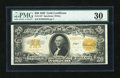 Large Size:Gold Certificates, Fr. 1187 $20 1922 Gold Certificate PMG Very Fine 30....