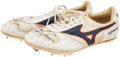 Miscellaneous Collectibles:General, 1980's Carl Lewis Race Worn & Signed Track Spikes....