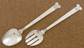 Silver Flatware, Mexican:Flatware, A MEXICAN SILVER SALAD SET. Maker unidentified, ca. 1940. Marks:A.G, 925, HECHO EN MEXICO D.F.. 10-1/2 inches long (26....(Total: 2 Items)