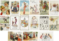 Political:Small Paper (1896-present), Woman's Suffrage: Fifteen Different English Comic Cards.... (Total: 15 Items)