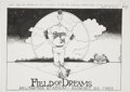 Baseball Collectibles:Others, Nolan Ryan 5000th Strikeout Illustration....