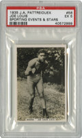 Boxing Cards:General, 1935 Pattreiouex (Sporting Events and Stars) Joe Louis #56 PSA EX5. Exceptional gloss remains on the stunning attraction t...