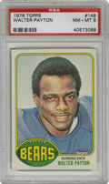 Football Cards:Singles (1970-Now), 1976 Topps Walter Payton #148 PSA NM-MT 8. Sweetness offers thishigh-grade rookie card from the 1976 Topps football issue,...