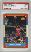 Basketball Cards:Singles (1980-Now), 1986-87 Fleer Michael Jordan #57 PSA NM 7. Here we offer the coveted rookie card of perhaps the most exciting player to ever...