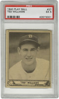 Baseball Cards:Singles (1940-1949), 1940 Play Ball Ted Williams #27 PSA EX 5. One of the keys to the1940 Play Ball set along with DiMaggio and Shoeless Joe Ja...