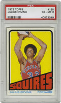 Basketball Cards:Singles (1970-1979), 1972-73 Topps Julius Erving #195 PSA EX-MT 6. Important rookieoffering features a young Dr. J during his brief stint with ...