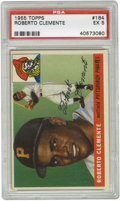 Baseball Cards:Singles (1950-1959), 1955 Topps Roberto Clemente #164 PSA EX 5. Fine PSA 5 example withgreat gloss and centering of the highly-coveted Clemente...