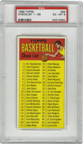 Basketball Cards:Singles (Pre-1970), 1969-70 Topps Checklist 1-99 #99 PSA EX-MT 6. One of the keys ofthe 1969-70 Topps basketball tallboy issue, the #99 checkl...