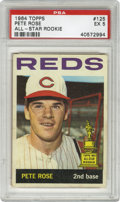 Baseball Cards:Singles (1960-1969), 1964 Topps Pete Rose All-Star Rookie #125 PSA EX 5. The boyishportrait of Pete Rose that Topps used for their 1964 #125 ha...