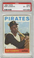 Baseball Cards:Singles (1960-1969), 1964 Topps Bob Clemente #440 PSA EX-MT 6. Quality offering of aRoberto Clemente Topps card, this one his #440 from the 196...
