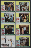 "Movie Posters:Western, The True Story of Jesse James (20th Century Fox, 1957). Lobby Card Set of 8 (11"" X 14""). Western. Starring Robert Wagner, Je... (Total: 8)"
