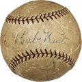 Autographs:Baseballs, Early 1930's Babe Ruth & Hack Wilson Signed Baseball....