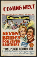 "Movie Posters:Musical, Seven Brides for Seven Brothers (MGM, 1954). Window Card (14"" X22""). Musical.. ..."