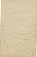 "Autographs:Non-American, Franz Liszt Autograph Letter Signed ""F. Liszt"", one page,4.5"" x 7"", Weimar, Germany, May 15, 1878...."