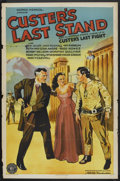 "Movie Posters:Adventure, Custer's Last Stand (Stage and Screen Productions, 1936). One Sheet (27"" X 41""). Adventure.. ..."