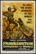 "Movie Posters:Horror, Frankenstein Conquers the World Lot (American International, 1966). One Sheet (27"" X 41"") and Lobby Card (11"" X 14""). Horror... (Total: 2 Item)"